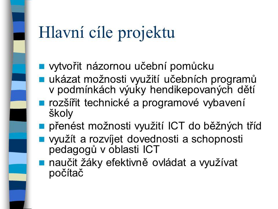 Hlavní cíle projektu vytvořit názornou učební pomůcku