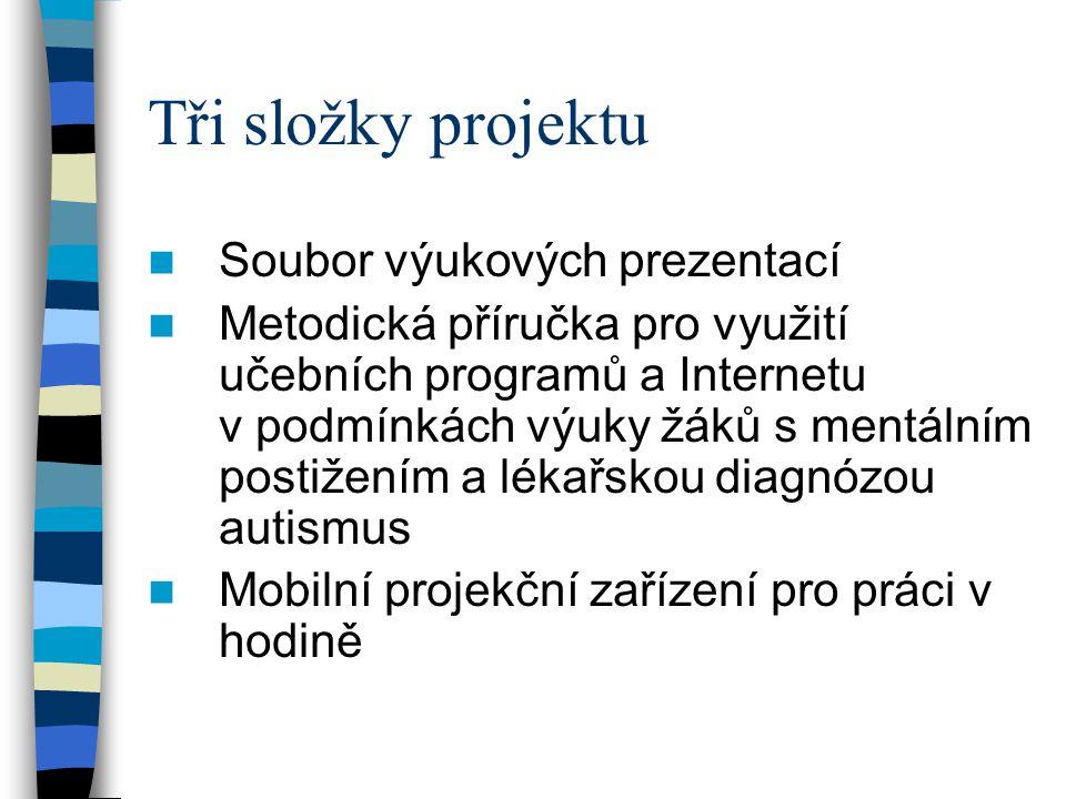 Tři složky projektu Soubor výukových prezentací