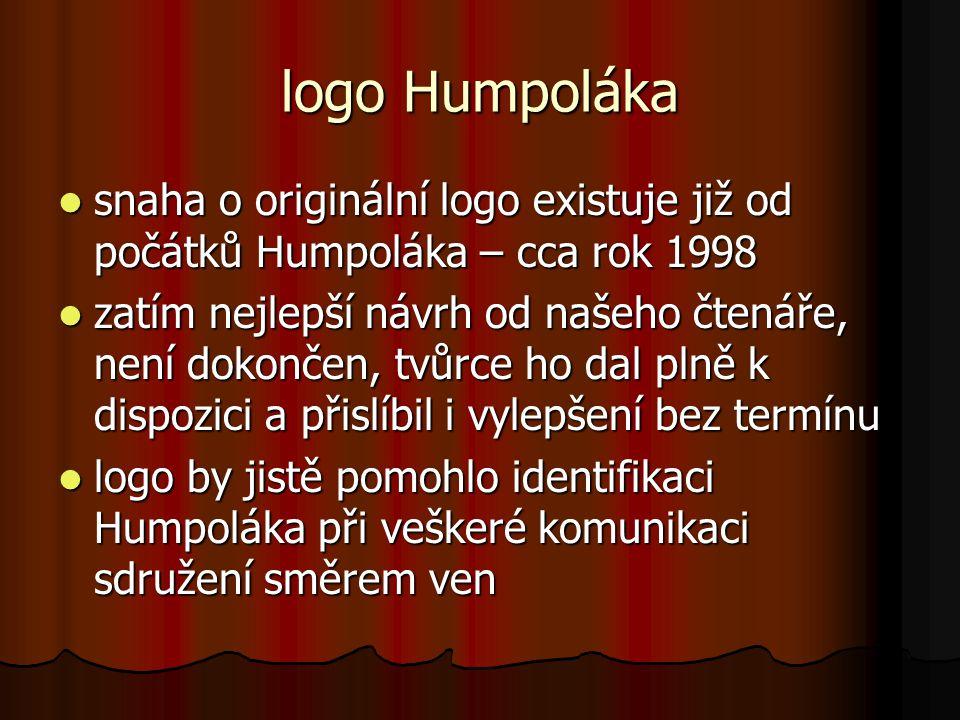 logo Humpoláka snaha o originální logo existuje již od počátků Humpoláka – cca rok 1998.