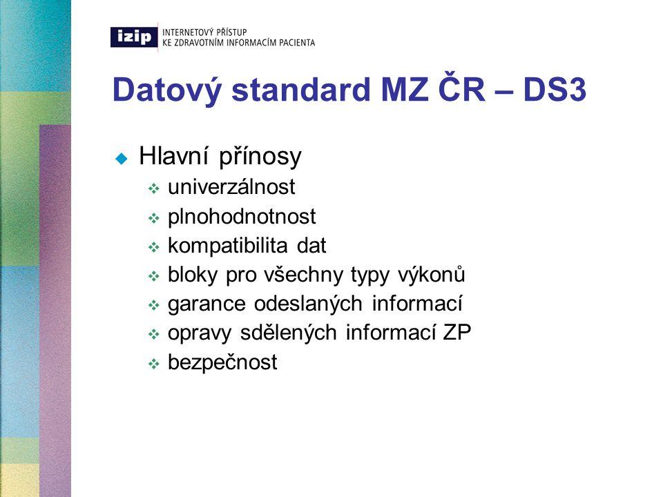 Datový standard MZ ČR – DS3