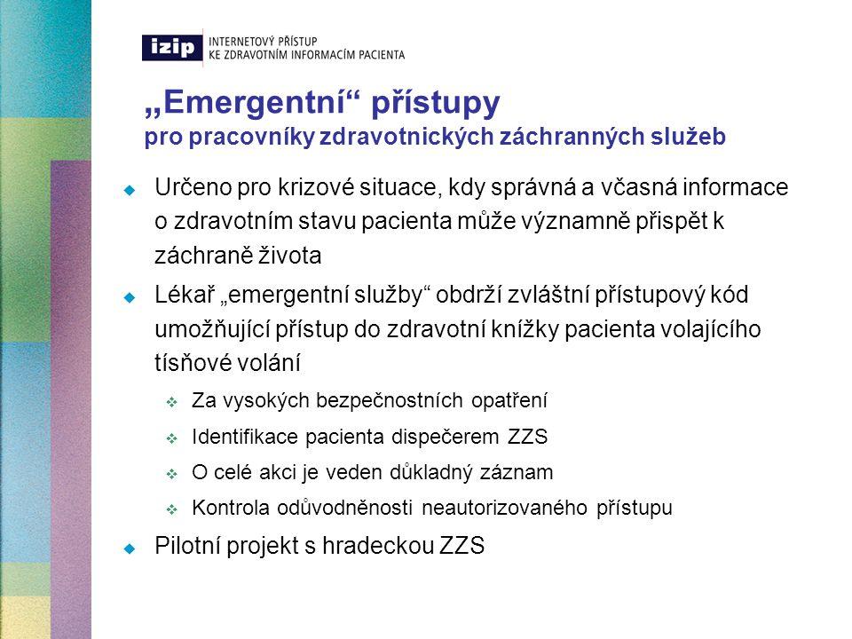 """""""Emergentní přístupy pro pracovníky zdravotnických záchranných služeb"""