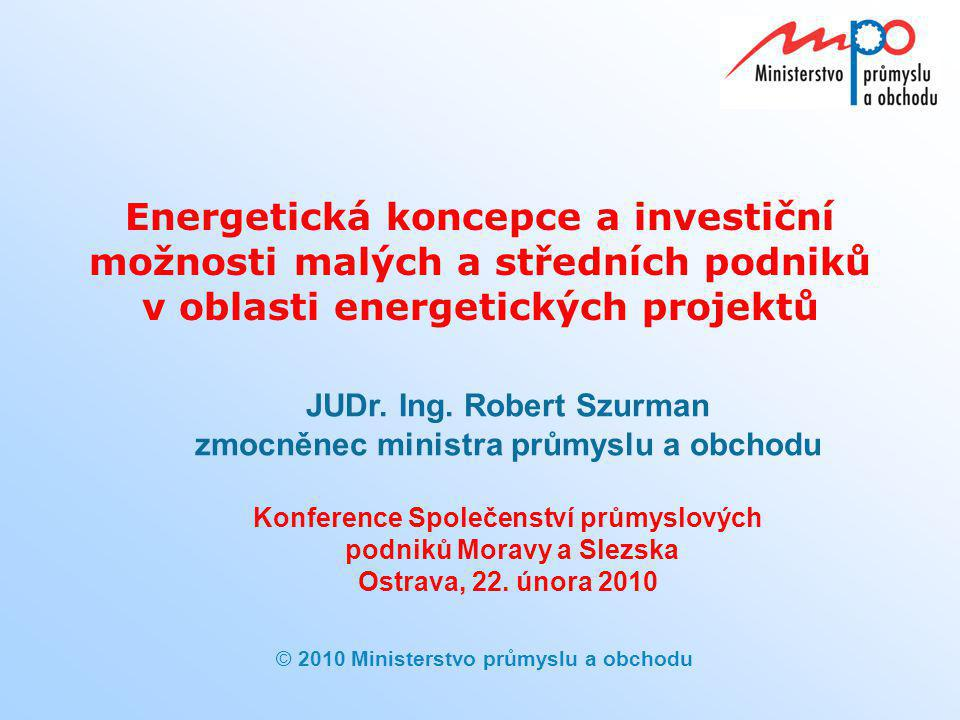 Energetická koncepce a investiční možnosti malých a středních podniků v oblasti energetických projektů