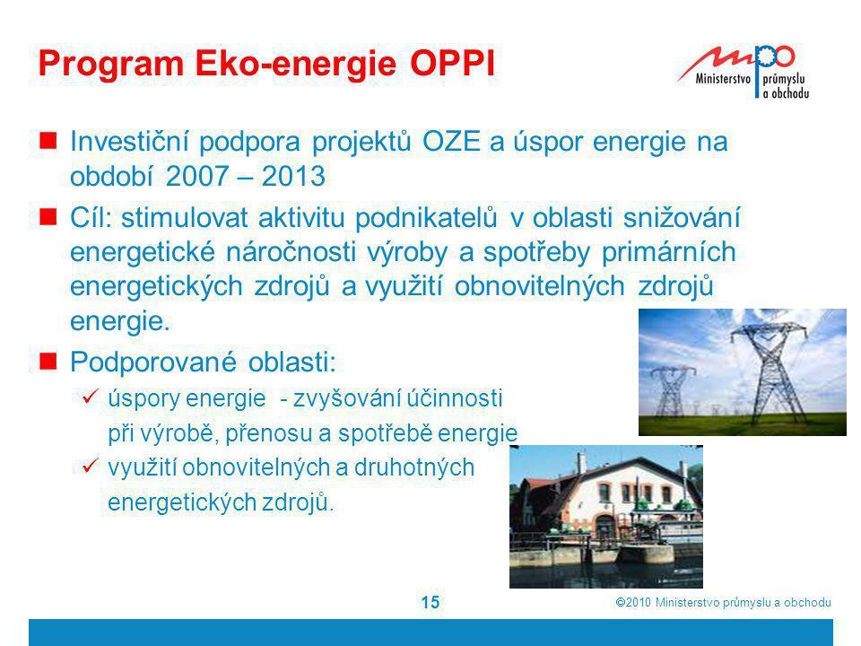 Program Eko-energie OPPI