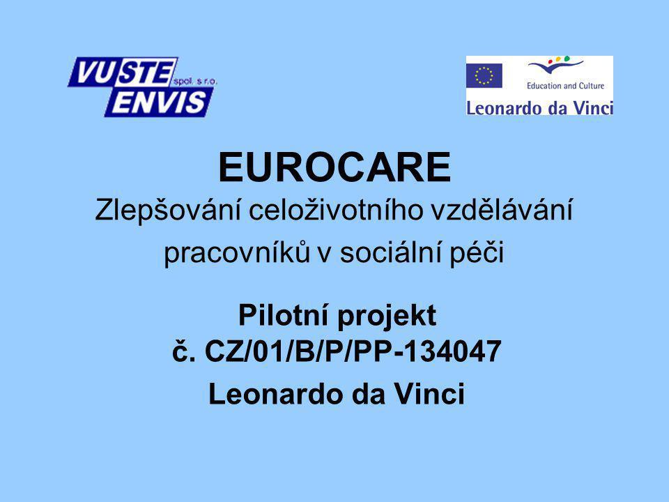Pilotní projekt č. CZ/01/B/P/PP-134047 Leonardo da Vinci