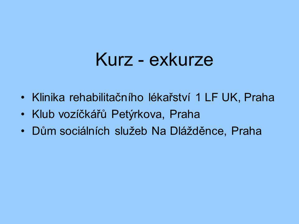 Kurz - exkurze Klinika rehabilitačního lékařství 1 LF UK, Praha