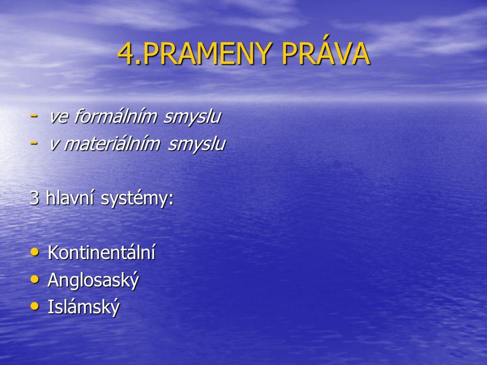 4.PRAMENY PRÁVA ve formálním smyslu v materiálním smyslu