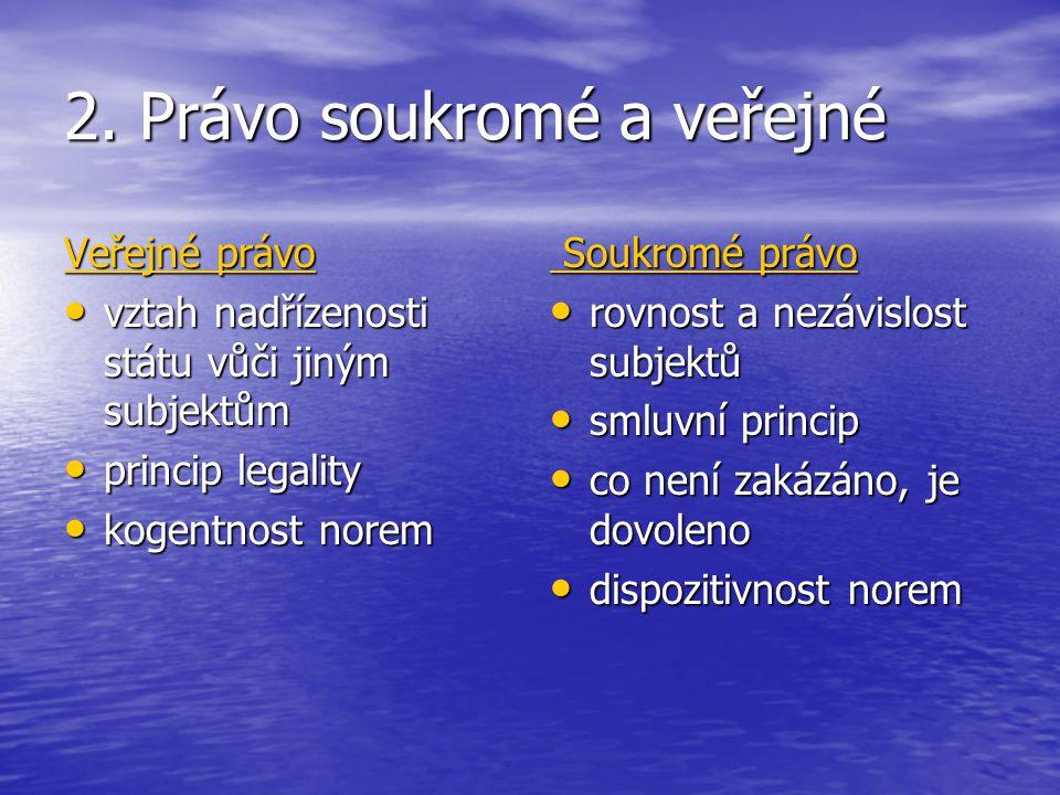 2. Právo soukromé a veřejné
