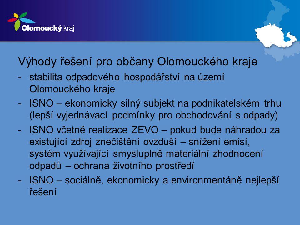Výhody řešení pro občany Olomouckého kraje