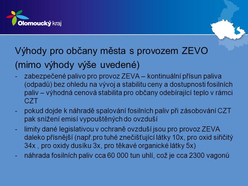 Výhody pro občany města s provozem ZEVO (mimo výhody výše uvedené)