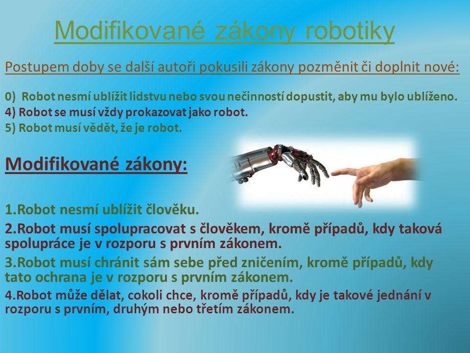 Modifikované zákony robotiky