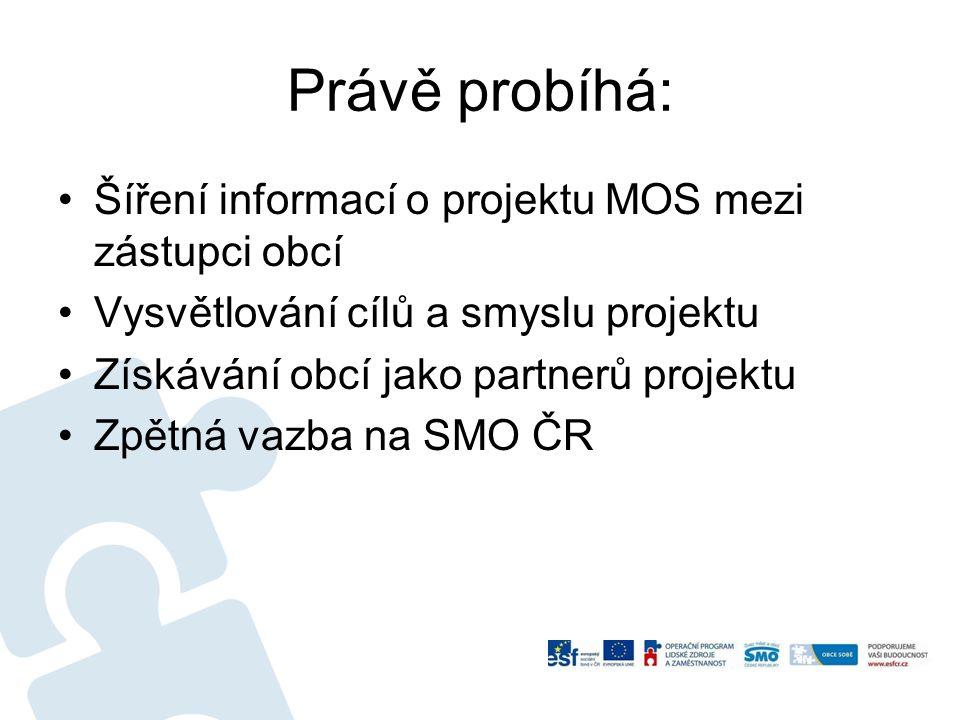 Právě probíhá: Šíření informací o projektu MOS mezi zástupci obcí