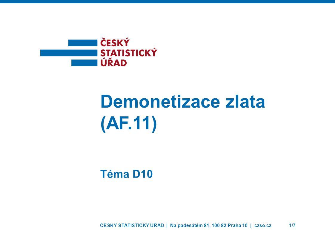 Demonetizace zlata (AF.11)