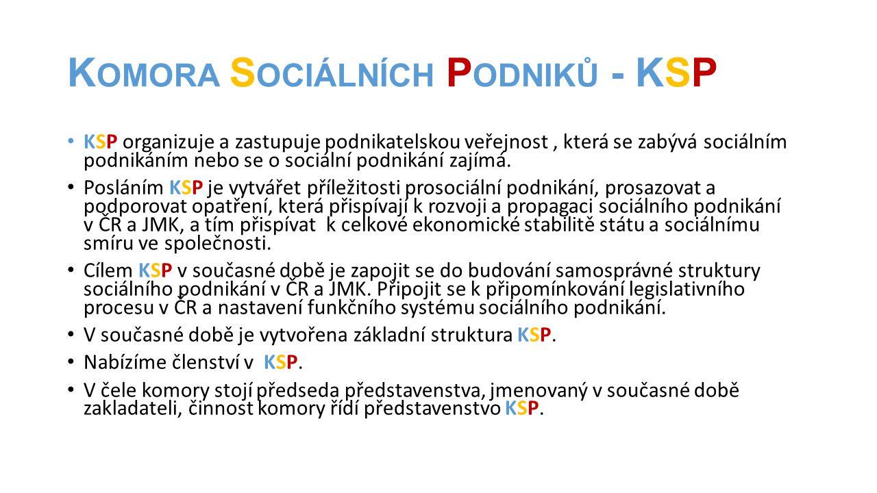 Komora Sociálních Podniků - KSP