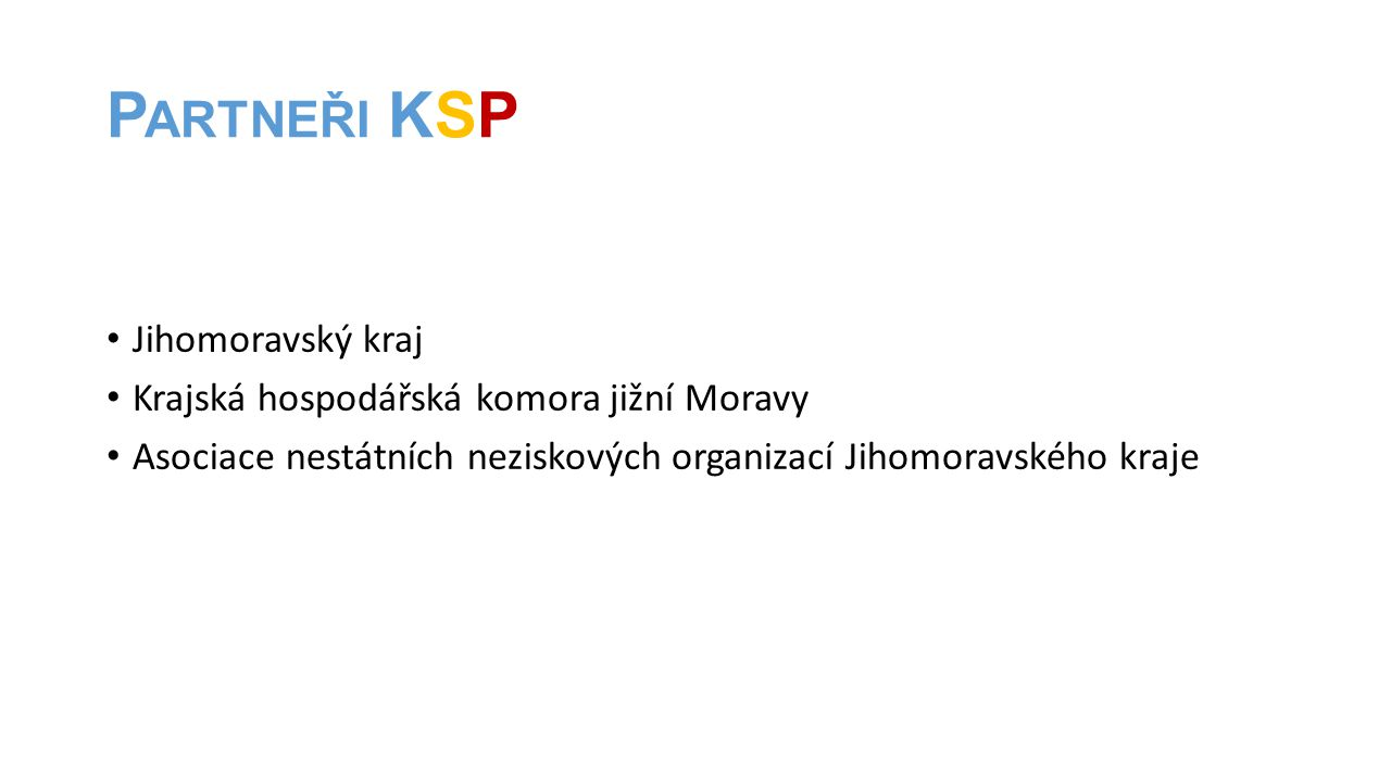 Partneři KSP Jihomoravský kraj Krajská hospodářská komora jižní Moravy