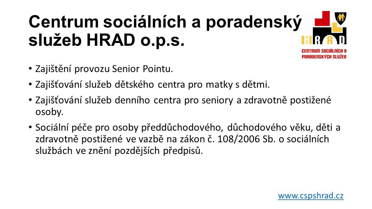 Centrum sociálních a poradenských služeb HRAD o.p.s.