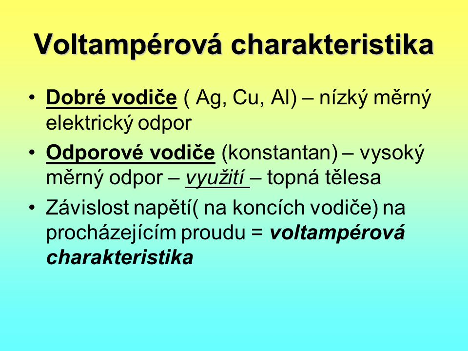 Voltampérová charakteristika