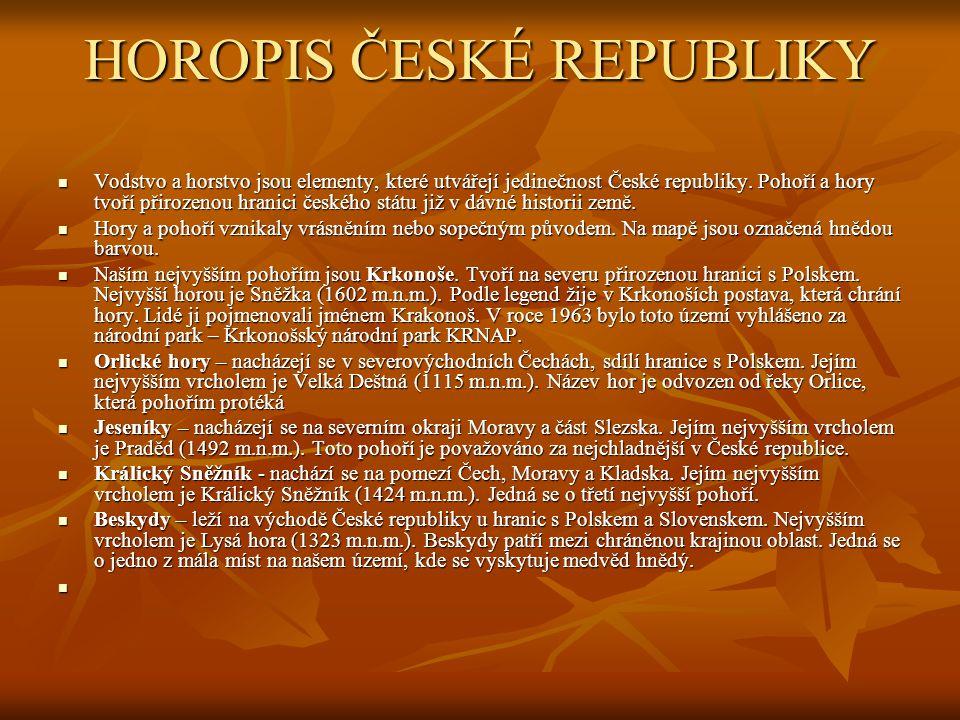 HOROPIS ČESKÉ REPUBLIKY