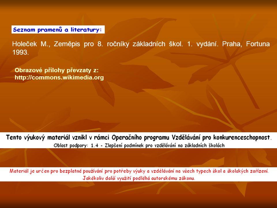 Holeček M. , Zeměpis pro 8. ročníky základních škol. 1. vydání