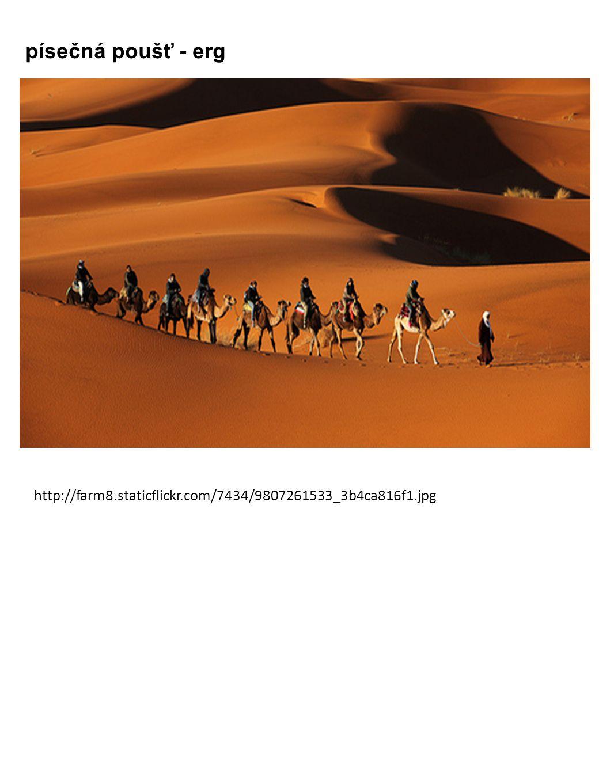 písečná poušť - erg http://farm8.staticflickr.com/7434/9807261533_3b4ca816f1.jpg