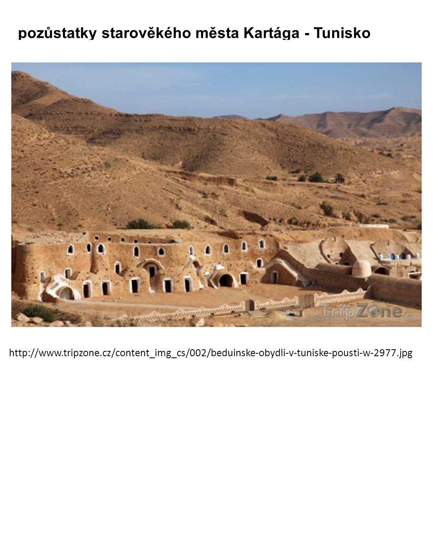 pozůstatky starověkého města Kartága - Tunisko