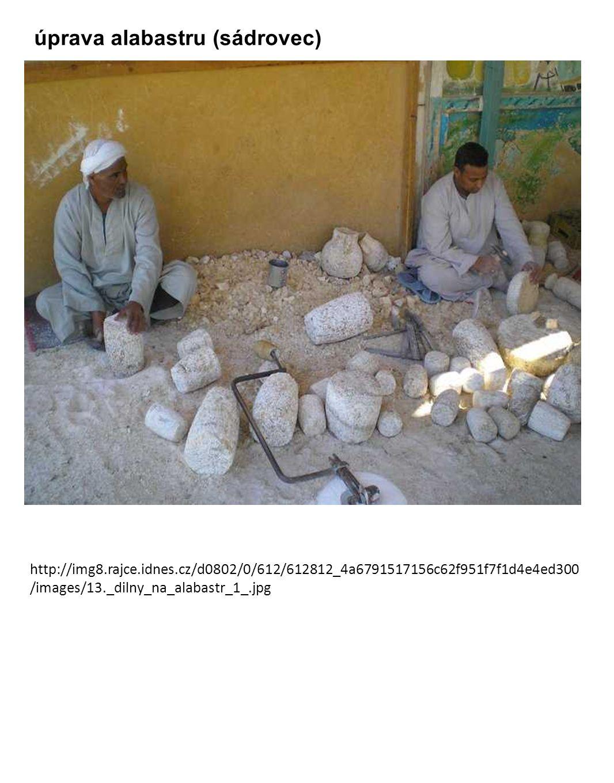 úprava alabastru (sádrovec)