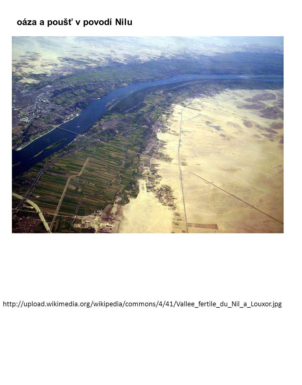 oáza a poušť v povodí Nilu