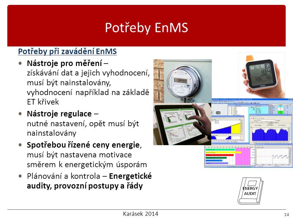 Potřeby EnMS Potřeby při zavádění EnMS