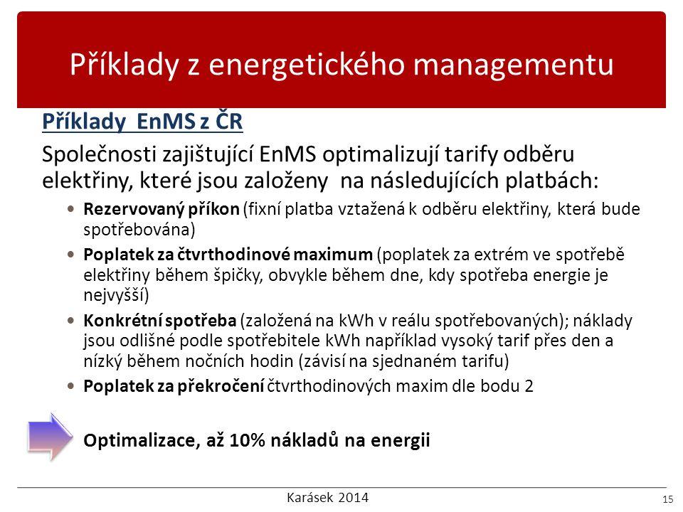 Příklady z energetického managementu