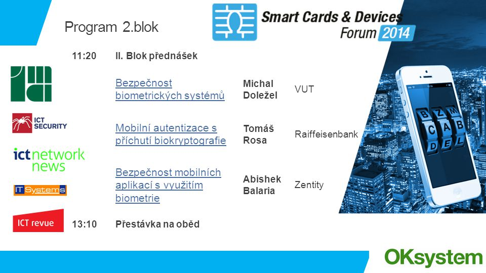Program 2.blok Bezpečnost biometrických systémů