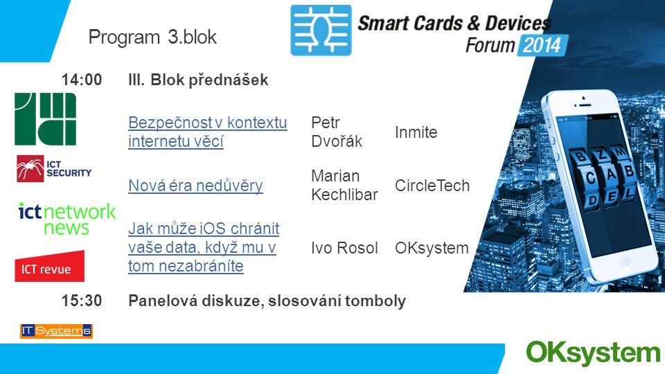 Program 3.blok 14:00 III. Blok přednášek