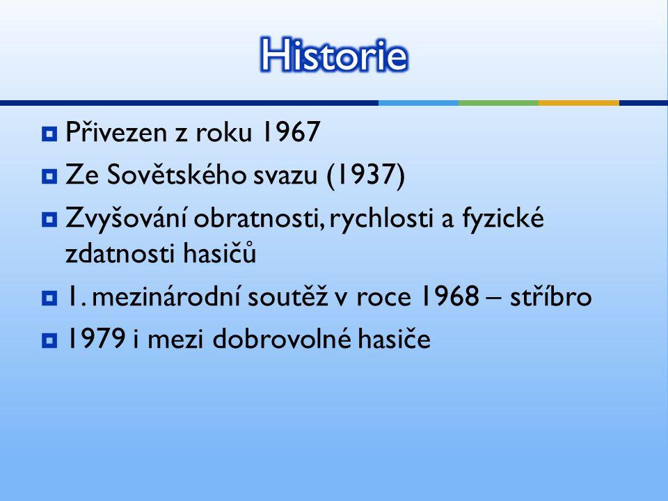 Historie Přivezen z roku 1967 Ze Sovětského svazu (1937)