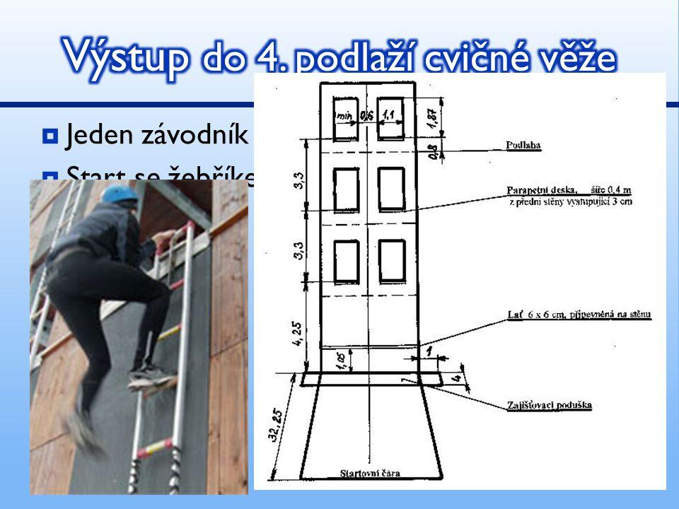 Výstup do 4. podlaží cvičné věže