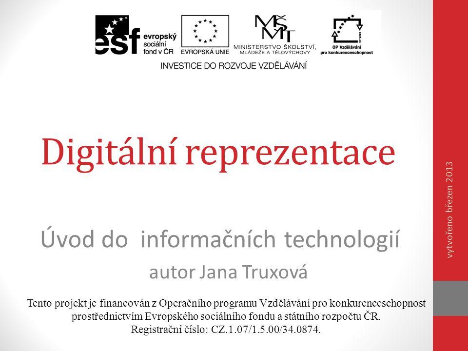 Digitální reprezentace