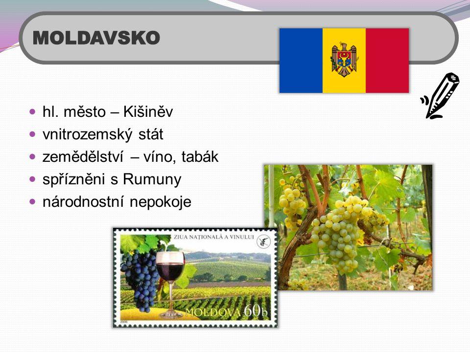 MOLDAVSKO hl. město – Kišiněv vnitrozemský stát