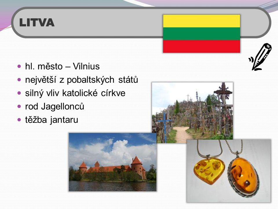 LITVA hl. město – Vilnius největší z pobaltských států