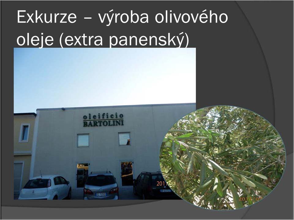 Exkurze – výroba olivového oleje (extra panenský)