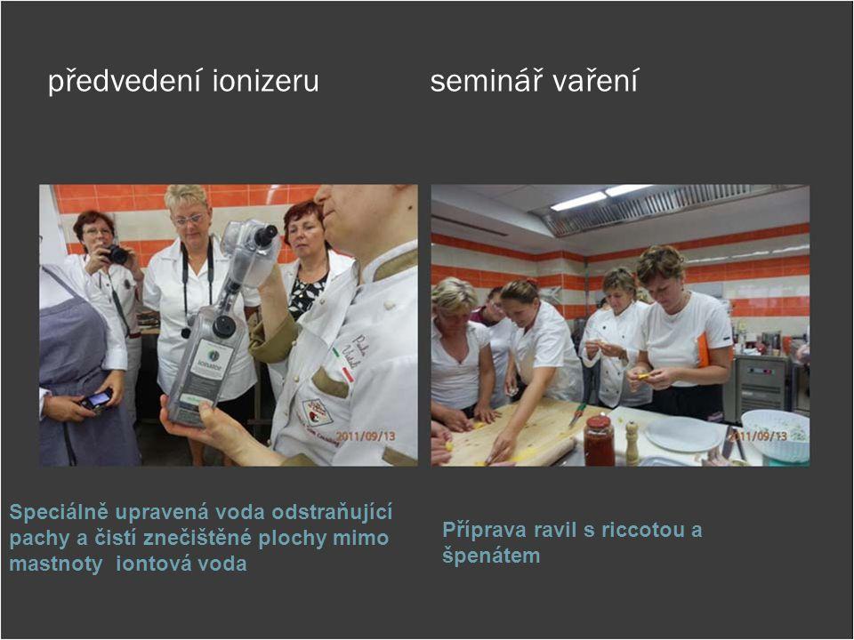 předvedení ionizeru seminář vaření