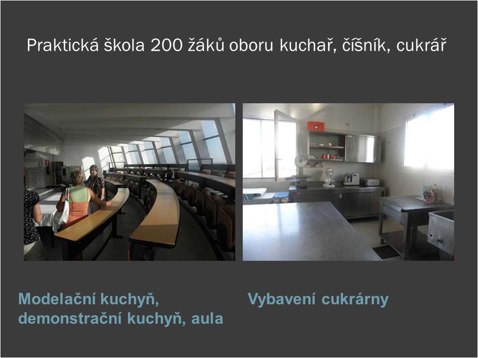 Praktická škola 200 žáků oboru kuchař, číšník, cukrář