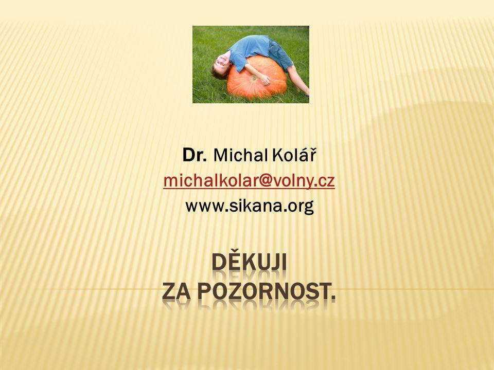 Dr. Michal Kolář michalkolar@volny.cz www.sikana.org