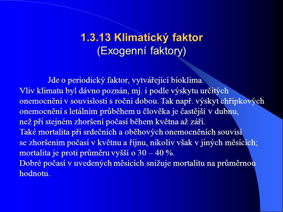 1.3.13 Klimatický faktor (Exogenní faktory)