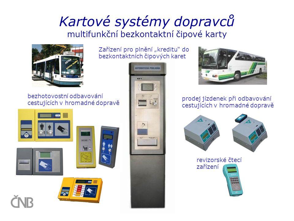 Kartové systémy dopravců multifunkční bezkontaktní čipové karty