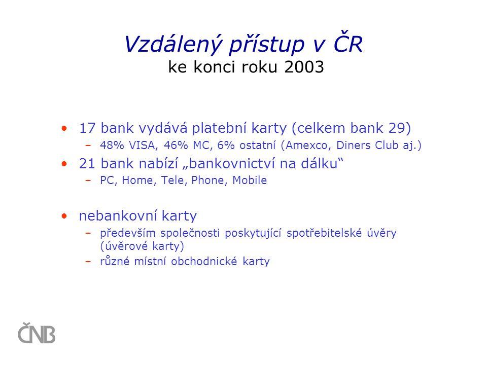 Vzdálený přístup v ČR ke konci roku 2003