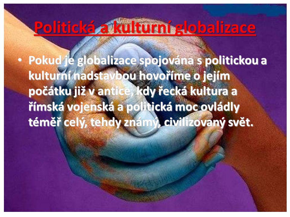 Politická a kulturní globalizace