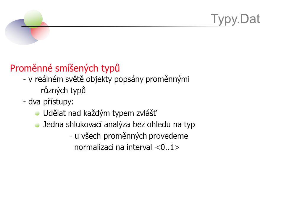 Typy.Dat Proměnné smíšených typů