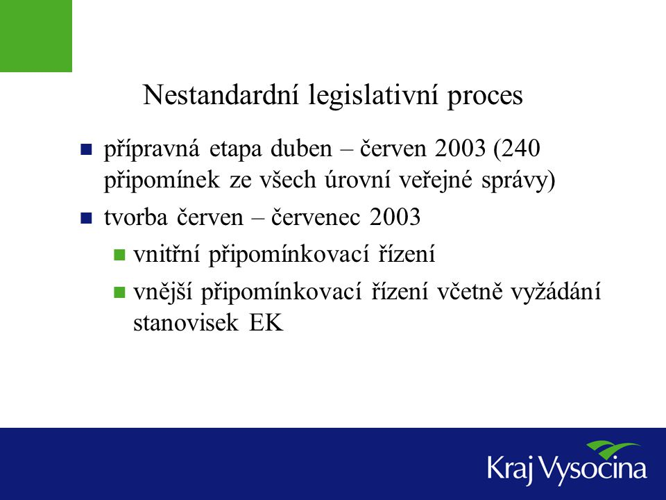 Nestandardní legislativní proces