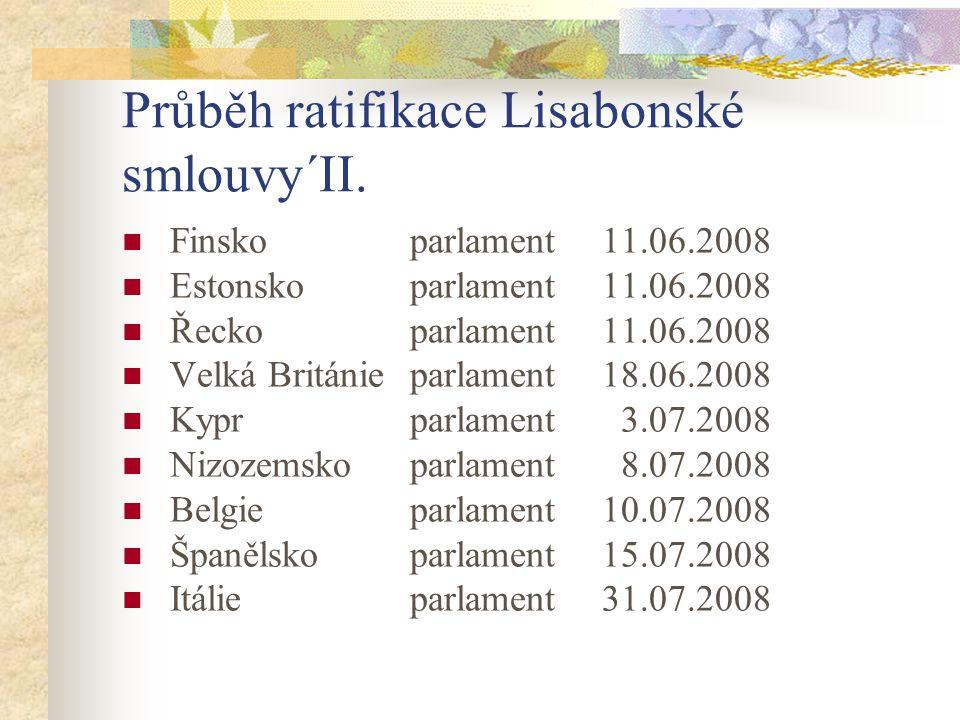 Průběh ratifikace Lisabonské smlouvy´II.