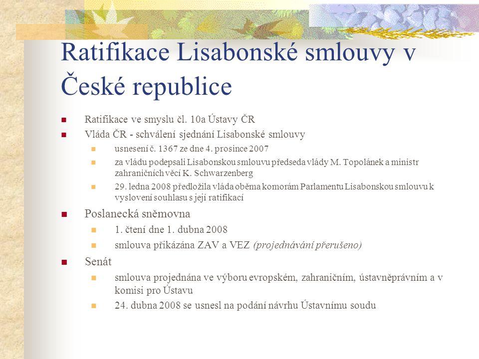 Ratifikace Lisabonské smlouvy v České republice