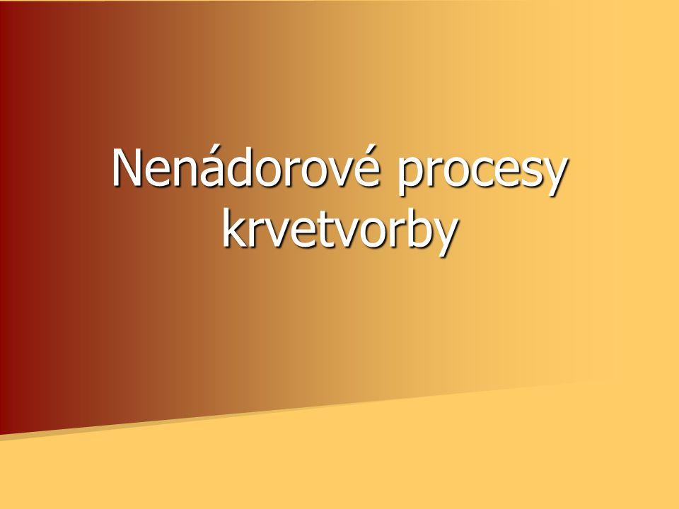 Nenádorové procesy krvetvorby