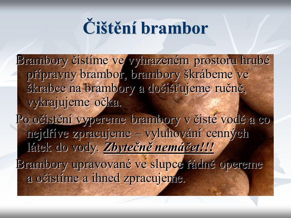Čištění brambor