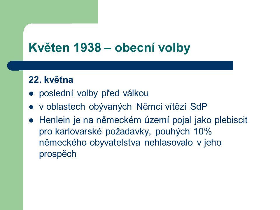 Květen 1938 – obecní volby 22. května poslední volby před válkou